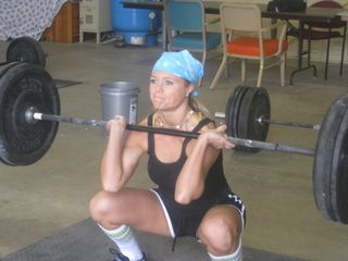 Angie Squat clean