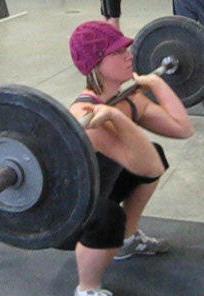 Kristi squat clean 2